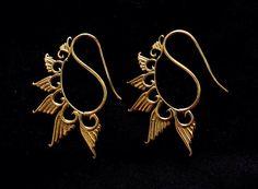 Tribal Brass Earrings, Hoop Earrings, Tribal Jewellery, Indian Earrings, Ethnic Earrings, Gypsy Hoop Earrings, Indian Jewelry by jewellryhubs on Etsy https://www.etsy.com/listing/231506999/tribal-brass-earrings-hoop-earrings