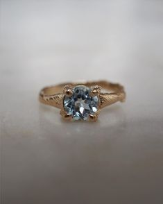 Solid Gold Sparkle In The Wild - Aquamarine Ring Gold Jewelry, Jewelry Accessories, Jewellery, Twig Ring, Aquamarine Gemstone, Gold Sparkle, Solid Gold, Sapphire, Engagement Rings