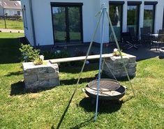 Gartenbank mit Grillstelle