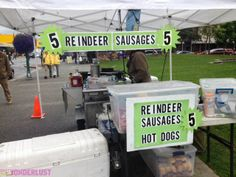 What the what? Reindeer sausage anyone? Anchorage, Alaska