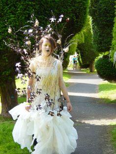 Painswick Art Couture 2016 -  Saffron Paterson (aged 14) 1st prize winner.