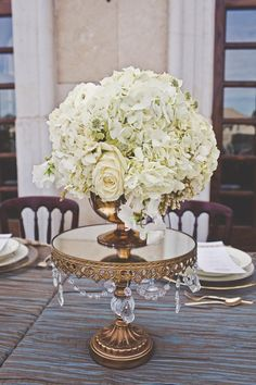 Opulent Treasures Chandelier Cake/Floral Stand Ball Base Stand Set of 3 $80