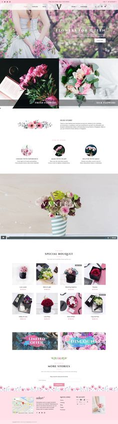 Best website template for flower store! Virgo theme #shopify #theme #Shopifythemes #onlineshopping #onlineshop #virgo #ecommerce #theme #template #webdesign #shopifystore #shopifythemes #ecommercewebsite #ecommercetheme #flower #bouquetstore #flowerstore #uidesign #pink #onlinestore