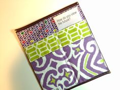 Handmade tract folder, several patterns to choose from. HOLLY HANDSTITCHED ON ETSY  Hey, I found this really awesome Etsy listing at https://www.etsy.com/listing/182960412/tract-holder-organizer-free-shipping