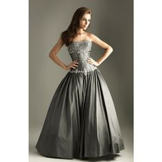 2011 Prom Dresses! Night Moves Beautifully Beaded Drop Waist Ball Gown (1.365 BRL) ❤ liked on Polyvore featuring dresses, gowns, vestidos, women, debutante, corset ball gown, fuchsia prom dress, prom gowns, beaded dress and fuschia prom dress