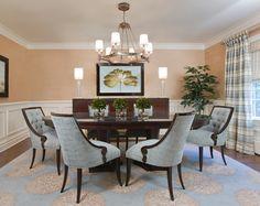 Elegant Dining Room - traditional - dining room - other metro - Paula Caponetti Designs LLC, Christopher Guy Knightsbridge Tub chairs