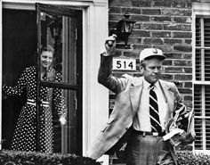 Gerald Ford leaves his Alexandria home to go be president the day after he was sworn in. He hadn't even had time to move into the VP's house, vacated by Agnew, before Nixon resigned and Ford found out his next residence would be the White House. A crazy turn of events.
