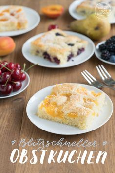 Blitzschneller Obstkuchen vom Blech