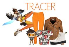 """Tracer"" by assassin-02 ❤ liked on Polyvore featuring VDP, IRO, Funko, WearAll, Overwatch, lenaoxton and tracer"