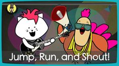 Jump, Run and Shout! | Action song for kids | The Singing Walrus