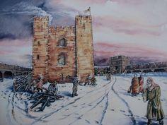 Brougham Castle Keepe in winter