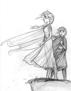 Frozen 2 is here finally! So much fun to draw. - cosmoanimato CosmoAnimato - Frozen 2 is here fin Art Disney, Disney Concept Art, Disney Style, Frozen Art, Frozen Disney, Elsa Frozen, Disney Sketches, Disney Drawings, Disney Princess Sketches