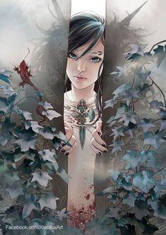 "Zhang Xiao Bai (白姥姥) - HAIKU: Flower's self portrait - Tattooed warrior princess - She seeks, ""Where are you?"" - http://goo.gl/TBrYcl"