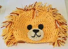 Adorable Hand Crocheted Lion With Fuzzy Mane by purpletreasures, $15.00