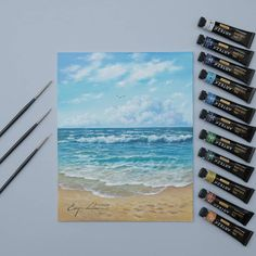 If you love the beach, then don't be afraid to create an oil painting of your favourite place! Nature artwork is a beautiful way to celebrate the outdoors and decorate your home. Art by: Made with: Arteza Oil Paint Arteza, Landscape Paintings, Oil Painting Landscape, Painting, Paint Set, Oil Painting, Artwork, Paint Tubes, Nature Artwork