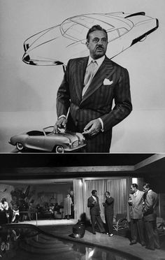 Photos of Raymond Loewy's House in Palm Springs - Lincoln Continental Concept, Raymond Loewy, Cowgirl Photo, Futuristic Design, Dads, Graphic Design Art, Design Thinking, Cinema 4d, Amazing Architecture