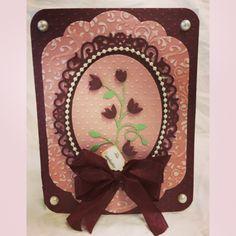 Lovely handmade card by Craft Me a Card using Spellbinders dies, Memory Box die, Cuddle Bug embossing folders.