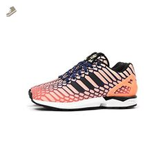cfc7f8115 Adidas ZX Flux W Women s Shoes Sun Glow Ink White aq8230 (8 B