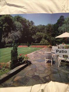 Stone patio Pool Ideas, Patio Ideas, Backyard Ideas, Garden Ideas, Outdoor Living, Outdoor Decor, Outdoor Areas, Patio Design, The Great Outdoors