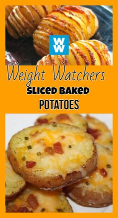 Weight Watchers Sides, Weight Watchers Breakfast, Weight Watcher Dinners, Weight Watchers Lunches, No Calorie Foods, Low Calorie Recipes, Diet Foods, Baked Potato Slices, Baked Potatoes