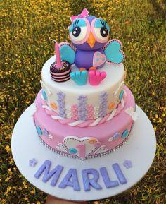 Hootabelle cake Girl Birthday, Birthday Parties, Birthday Cake, Birthday Ideas, Owl Cakes, Cake Toppers, Cake Decorating, Pasta, Amazing Cakes