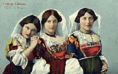 Monterosso Calabria Costumes of the area - 1928  3 girls fm Settingiano  #TuscanyAgriturismoGiratola