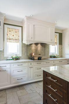Love the roman shades! Kitchen Designs | Jane Lockhart Interior Design