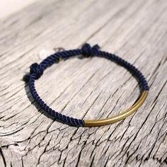 Nautical sailor's waterproof brass bracelet  The by byMarisSal