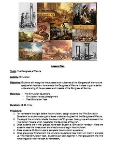 Congress of Vienna Simulation Congress Of Vienna, Ap European History, High School Subjects, Social Studies Classroom, French Revolution, Napoleonic Wars, School Resources, Teaching Tools, Middle School