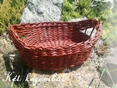 Vörösesbarna ovális kenyeres kosár