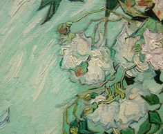 """Van Gogh detail of """"Roses"""" 