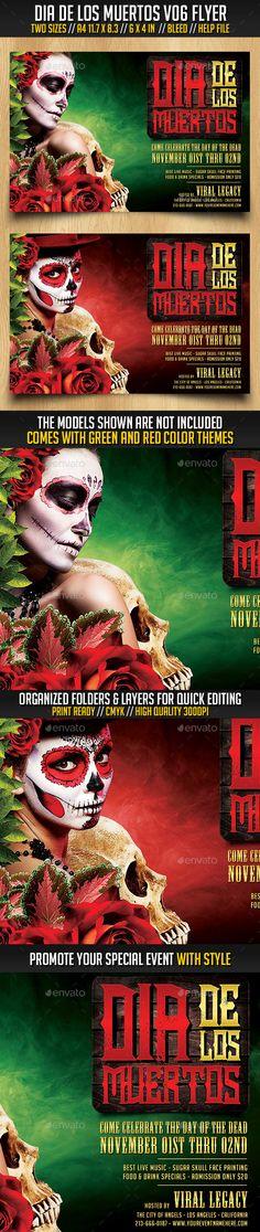 Dia De Los Muertos Flyer Dia de - zombie flyer template