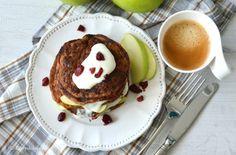 Gezonde pancakes met appel en soja yoghurt