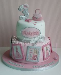 adorable Barbie Themed Cake