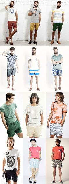 Men's Shorts and T-Shirt Outfits Lookbook #SummerFashions