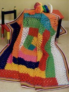 multi-colored afghan