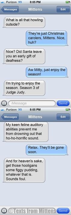 Daily Texts from Mittens: The Christmas Carolers Edition