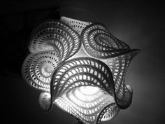 Recently I met Gabby - Gabriele Mayer was visiting Ithaca several weeks ago and showed me how my hyperbolic planes have inspired her. Modern Crochet, Love Crochet, Crochet Flowers, Knit Crochet, Russian Crochet, Crochet Lamp, Freeform Crochet, Textile Sculpture, Crochet Projects