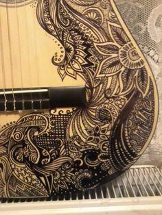 Sharpie guitar design! (also, guitar for temperature, balanced badly on a radiator) - Imgur