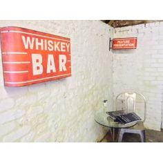 Whiskey Bar Sign for your man cave bar ideas retro style