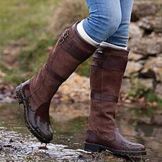 Low Heel Belt Buckle Riding Boots Plus Size Split Joint Boots – linenlooks boots leather,casual boots outfit,boots casual Barn Boots, Muck Boots, Riding Boots, Shoe Boots, Cowgirl Boots, Riding Gear, Flat Boots, Horse Riding, Women's Shoes