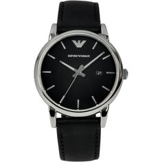 Emporio Armani Luigi AR1692: Black with three hand movement and date window