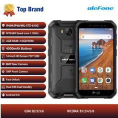 Ip68 MT6580 Rugged Waterproof Smartphone Android 9.0 Quad-core 2GB 16GB Android Art, Android Hacks, Android Library, Android Tutorials, Smartphones For Sale, Technology World, 2gb Ram, Dual Sim, Portable