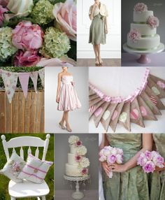Knots and Kisses Wedding Stationery: Gorgeous Sage Green & Pink Wedding Styling & Stationery!