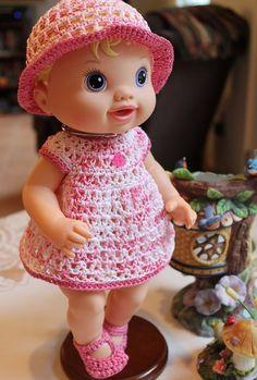 3 PDF PATTERN Crochet 12 13 inch Hasbro Baby Alive by charpatterns