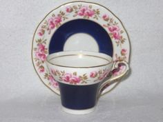 AYNSLEY-COBALT-BLUE-GILT-ROSES-CORSET-TEA-CUP-AND-SAUCER-ARTIST-SIGNED