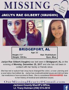 Find missing Jaclyn Rae Gilbert Vaughn!