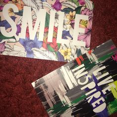 I also picked up these postcards. I can't wait to put them up all around my room to make me smile!