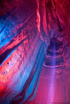 Ruby Falls Chattanooga, TN- This is an underground waterfall! I'd recommend going to see this it's so beautiful!! www.rubyfalls.com