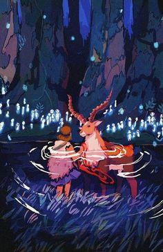 Princess Mononoke Wallpaper, Princess Mononoke Tattoo, Mononoke Anime, Mononoke Cosplay, Studio Ghibli Art, Studio Ghibli Movies, Mononoke Forest, Girls Anime, Howls Moving Castle